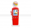 Gas Station with exchange machine