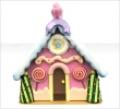 Lollipop candy house